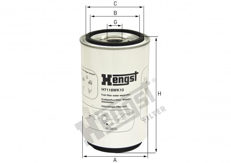 Паливний фільтр Hengst H7118WK10