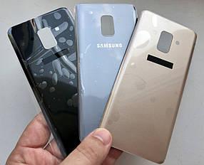 Задняя крышка для Samsung A530 Galaxy A8 (2018) серая (без стекла камеры)