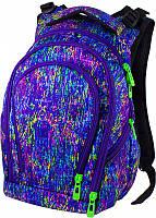 Яркий неоновый рюкзак Winner Stile для девочки с ортопедической спинкой и потайным карманом