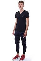 Спортивные штаны Мужской 80% хлопок 15% полиэстер, 5% эластан тёмно-синий Cita все размеры  L