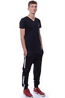 Спортивные штаны Мужской 75% хлопок 20% полиэстер, 5% лайкра тёмно-синий Cita все размеры  L