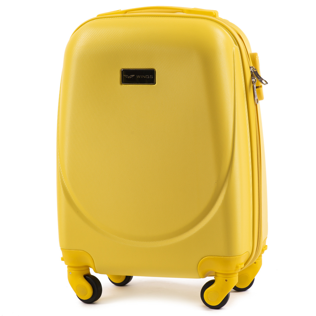 Чемодан маленький на колесах Wings 912 Ручная кладь (S) Желтый