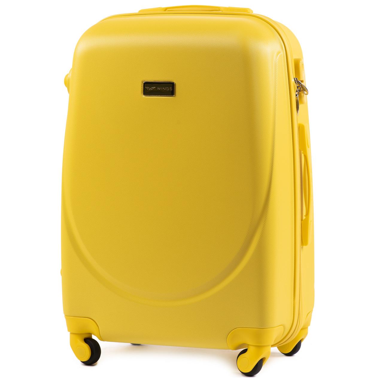 Чемодан дорожный на 4 колесах Wings 912 Средний (М) Желтый