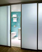 Стеклянные раздвижные двери в ванную комнату