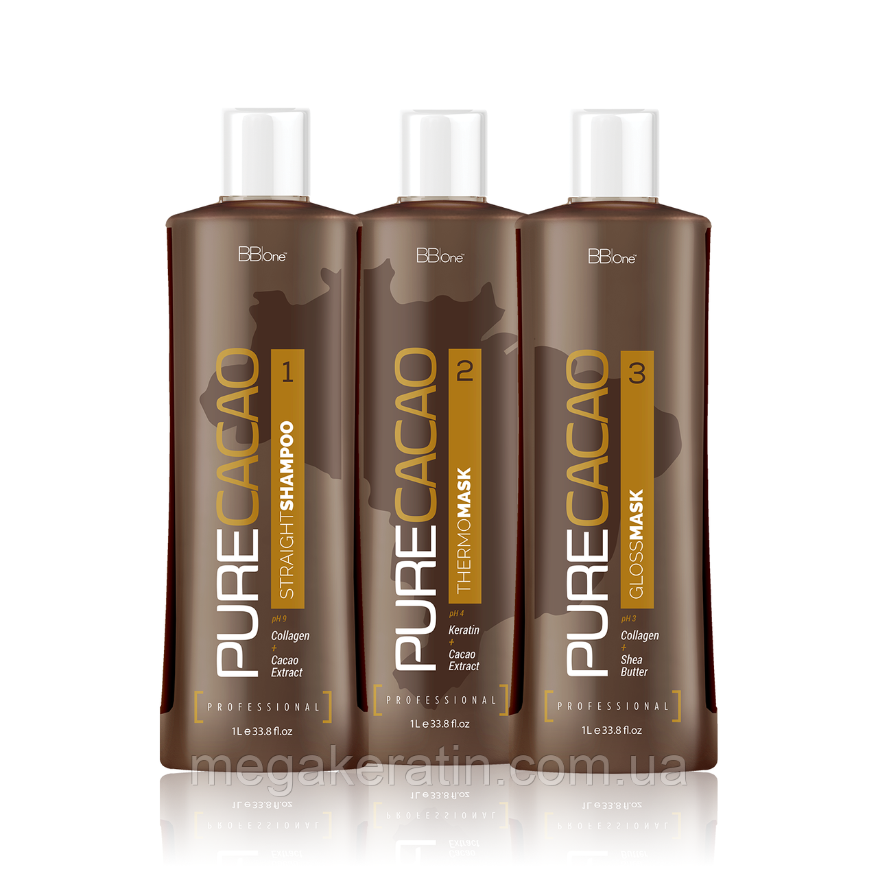 BB ONE Pure Cacao Line набор 3*1000 мл