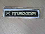 Наклейка s надпись MAZDA 100х20х1мм силиконовая на авто эмблема логотип Мазда, фото 3