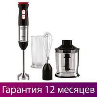 Блендер с чашей Scarlett SC-HB42F44 Black, 1500W, турбо-режим, венчик для взбивания, погружной блендер скарлет