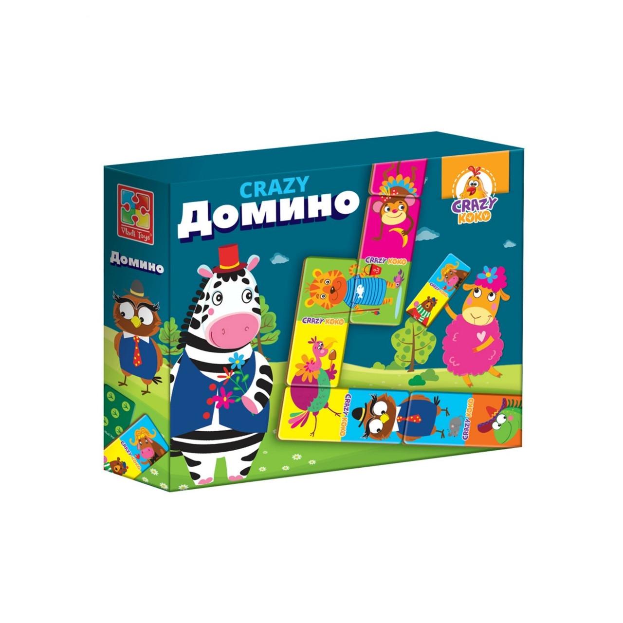 Игра Vladi Toys Домино. Crazy KOKO (Рус) (VT8055-04)