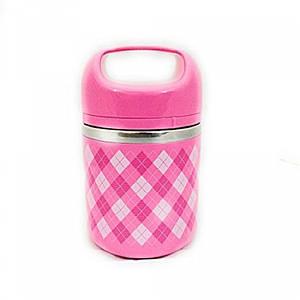 Ланч бокс 630мл пищевой 1 секция Розовый