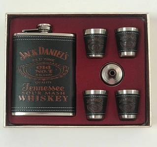 Подарочный набор фляга со стопками Jack Daniels black-red