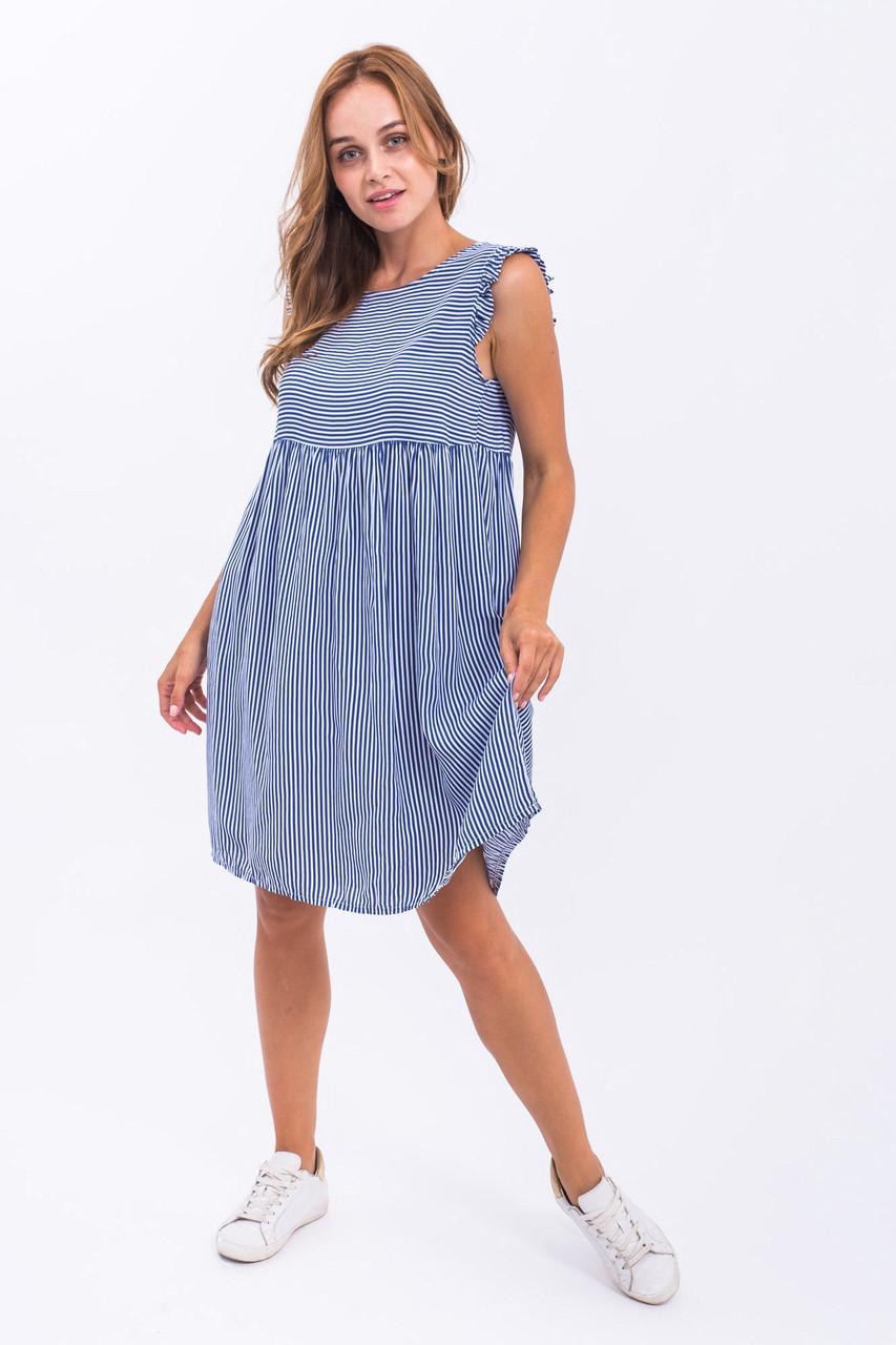 Платье тонкая полоска LUREX - синий цвет, L (есть размеры)