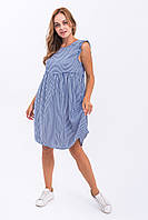 Платье тонкая полоска LUREX - синий цвет, L (есть размеры), фото 1