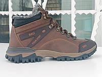Зимнее кожаные ботинки мужские