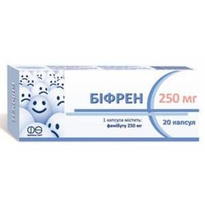 Бифрен - тревожность, невроз навязчивых состояний, капсулы 250мг №20, фото 2