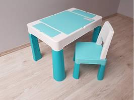 910 Комплект детской мебели Tega Baby MULTIFUN (стол + стульчик)  (бирюзовый(Turkus))