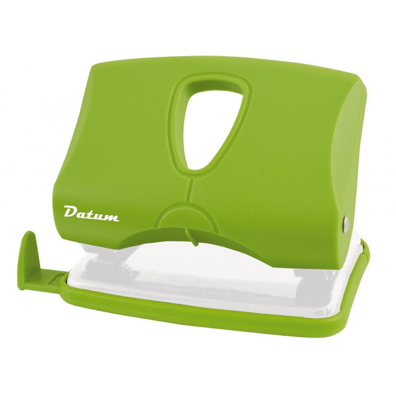 Дырокол 20л пласт. D1218-08 зеленый