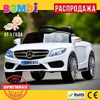Детский Электромобиль Mercedes - Benz M3981 мягкие EVA колеса Белый