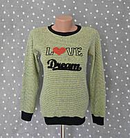 """Джемпер вязаный с вышивкой """"Love dream"""" - салатовый, фото 1"""
