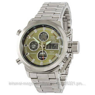 Часы наручные AMST Metall Silver-Green