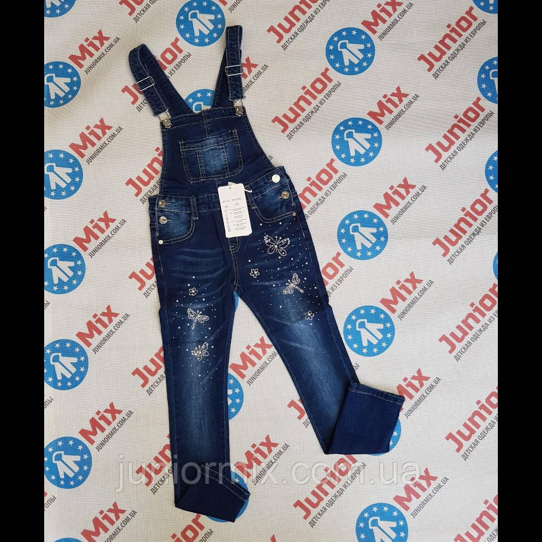 Подростковые джинсы комбинезоны  для девочек оптом