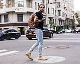 Рюкзак шкіряний чоловічий TRIGGER BRWN коричневий WLKR, фото 9