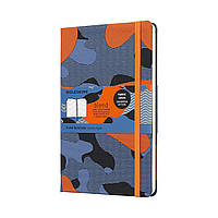 Блокнот Moleskine Limited Blend Средний (13х21 см) 240 страниц в Линейку Оранжевый Канва (8058341717349), фото 1