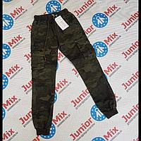 Подростковые котоновые  камуфляжные брюки  для мальчиков  оптом F26