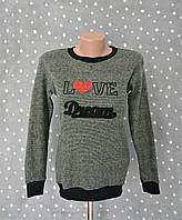 "Джемпер вязаный с вышивкой ""Love dream"" - хаки, фото 1"