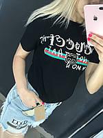 Брендовая женская футболка GUCCI Гуччи Люкс 1:1
