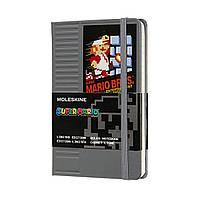 Блокнот Moleskine Limited Super Mario Карманный (9х14 см) 192 страницы в Линейку Серый (8058647621159), фото 1