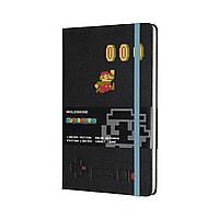 Блокнот Moleskine Limited Super Mario Средний (13х21 см) 240 страниц в Линейку Черный (8058647621173), фото 1