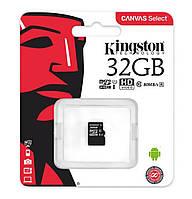 Карта памяти microSDHC (UHS-1) Kingston Canvas Select 32 GB class 10 (R-80MB/s) (No adapter)