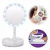 Настольное зеркало для макияжа My Foldaway Mirror Складное с подсветкой Белый, фото 3