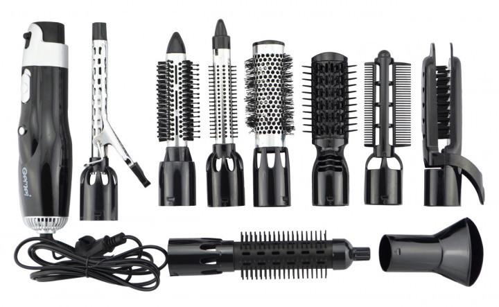 Фен щетка воздушный стайлер для укладки волос 10 в 1 Gemei GM 4833 1000W черная