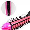 Стайлер 4в1 Плойка-утюжок-гофре с расческой для волос NOVA NHC-8890 Pink, фото 4