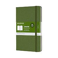 Блокнот Moleskine Limited Two-Go Медиум (11,5х18 см) 144 страницы Травяной Зеленый (8058647620190), фото 1