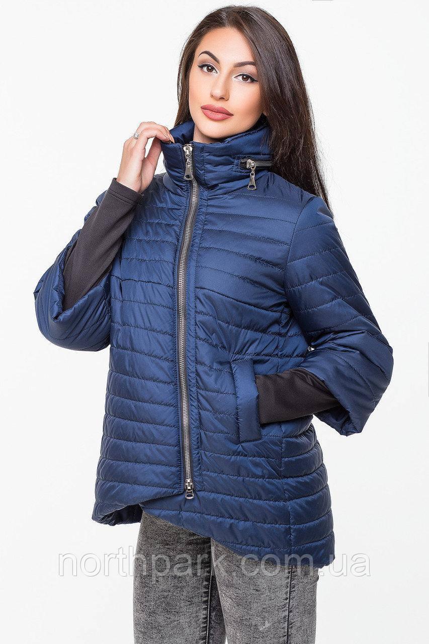 Демісезонна куртка з прихованим капюшоном KTL-122, синя