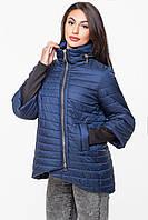 Демісезонна куртка з прихованим капюшоном KTL-122, синя , фото 1