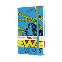 Блокнот Moleskine Limited Wonder Woman Средний (13х21 см) 240 страниц в Линейку Голубой (8053853600509), фото 1