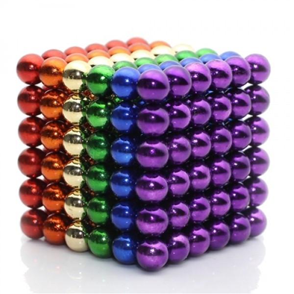 Магнитный конструктор антистресс Куб Нео NeoCube игрушка головоломка 216 шт по 5 мм Разноцветный