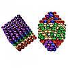 Магнитный конструктор антистресс Куб Нео NeoCube игрушка головоломка 216 шт по 5 мм Разноцветный, фото 3