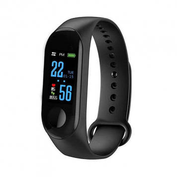 Фитнес браслет Intelligence Health Bracelet M3 Fit Black AKLINE Черный Цветной экран