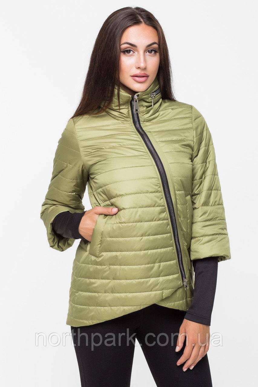 Демісезонна куртка з прихованим капюшоном KTL-122, яблуко