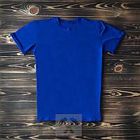 Синяя мужская футболка / Футболки с надписями на заказ