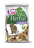 Лакомство для дегу сушеные овощи и фрукты  LoLo Pets Vita Herbal Tasty basket for degu