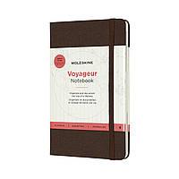 Блокнот Moleskine Вояжер Медиум (11,5х18 см) 208 страниц Кофейный Коричневый (8058647620381), фото 1