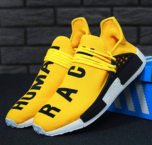 Мужские кроссовки Adidas NMD Human Race x Pharrell Williams Yellow