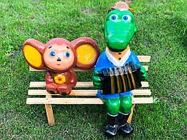 """Садові фігури """"Чебурашка і крокодил Гена"""" H - 75см"""