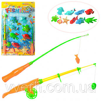 Игра-рыбалка с удочками для детей на магнитах 220-1