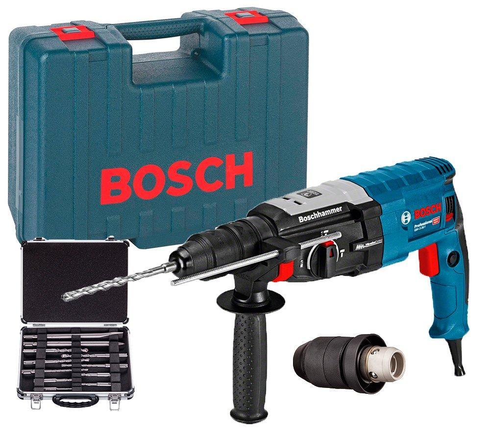 Перфоратор Bosch GBH 2-28 F + сменный патрон + набор SDS-plus Mixed Set + чемодан (061126760N)
